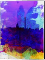 Washington DC Watercolor Skyline 2 Fine-Art Print