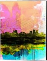 Anchorage Watercolor Skyline Fine-Art Print