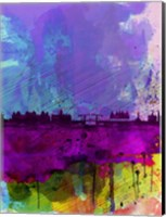 Amsterdam Watercolor Skyline Fine-Art Print
