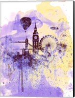 London Watercolor Skyline Fine-Art Print
