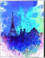 Paris Watercolor Skyline Fine-Art Print