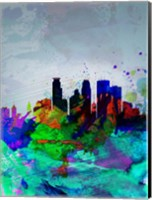 Minneapolis Watercolor Skyline Fine-Art Print