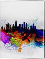 Los Angeles  Watercolor Skyline 2 Fine-Art Print