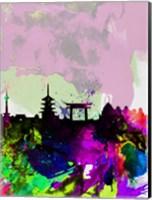 Kyoto Watercolor Skyline Fine-Art Print