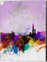 Taipei Watercolor Skyline Fine-Art Print