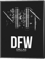 DFW Dallas Airport Black Fine-Art Print