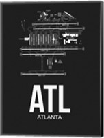ATL Atlanta Airport Black Fine-Art Print