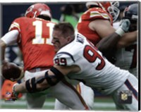 J.J. Watt 2015 Action Fine-Art Print