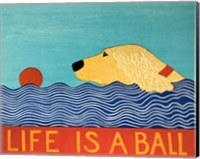 Life Is A Ball Gold Golden Fine-Art Print