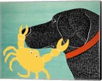The Crab Black Dog Yellow Crab Fine-Art Print