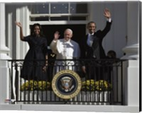 First Lady Michelle Obama, Pope Francis and President Barack Obama Fine-Art Print