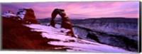Arches National Park with Snow, Utah Fine-Art Print