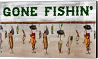 Gone Fishin' Wood Fishing Lure Sign Fine-Art Print