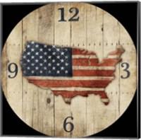Wooden US Map Clock Fine-Art Print