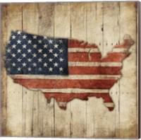 Wooden US Map Fine-Art Print