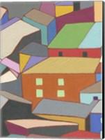 Rooftops in Color III Fine-Art Print