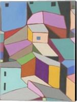 Rooftops in Color VIII Fine-Art Print