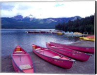 Four Pink Boats, Canadian Rockies 06 Fine-Art Print