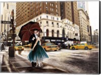 Kiss in Park Avenue Fine-Art Print