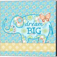 Blue Elephant I - Dream Big Fine-Art Print
