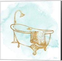 Le Tub on Teal I Fine-Art Print