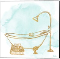 Le Tub on Teal II Fine-Art Print
