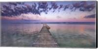 Boat Ramp and Filigree Clouds, Bavaria, Germany Fine-Art Print