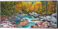 Mountain Brook and Rocks, Carinthia, Austria Fine-Art Print