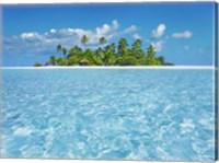 Tropical Lagoon with Palm Island, Maldives Fine-Art Print
