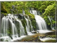 Waterfall Purakaunui Falls, New Zealand Fine-Art Print