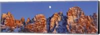 Pale Di San Martino And Moon, Italy Fine-Art Print