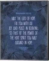 Romans 15:13 Abound in Hope (Blue) Fine-Art Print