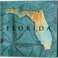 Florida Sea Map Fine-Art Print