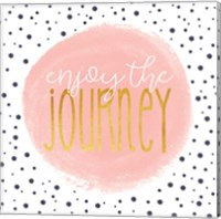Enjoy the Journey - Blush Pink Fine-Art Print