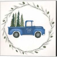 Old Blue Truck Fine-Art Print
