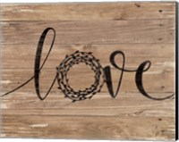 Love Wreath (Brown) Fine-Art Print