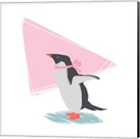 Minimalist Penguin, Girls Part III Fine-Art Print