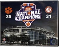 Clemson Tigers 2016 National Champions Stadium Fine-Art Print