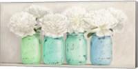 Peonies in Mason Jars (detail) Fine-Art Print