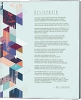 Desiderata Abstract Geometric Background Fine-Art Print