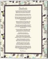 Desiderata Leaf Pattern Frame Light Fine-Art Print