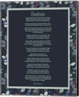Desiderata Leaf Pattern Frame Dark Fine-Art Print
