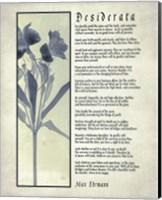 Desiderata Blue Daguerreotype Fine-Art Print