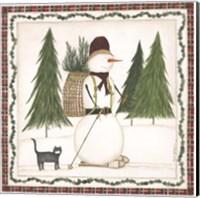 Cross Country Snowman Fine-Art Print