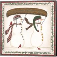 Canoe Snowman Fine-Art Print