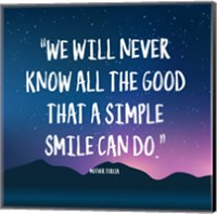 Simple Smile - Mother Teresa Quote (Dusk) Fine-Art Print