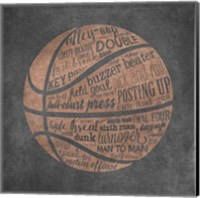 Basketball Terms Fine-Art Print