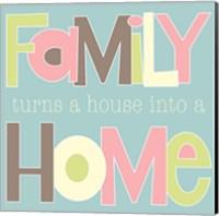Family Turns into a House II Fine-Art Print