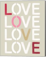 Love Stencil Fine-Art Print
