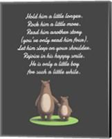 Hold Him A Little Longer Bear And Cub Gray Fine-Art Print